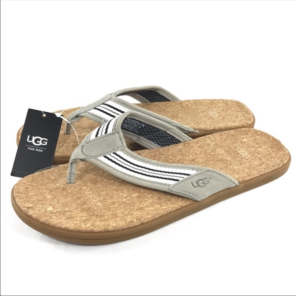 8e40ba8f24e UGG | Men's Seaside Striped Cork Flip Flops NWT